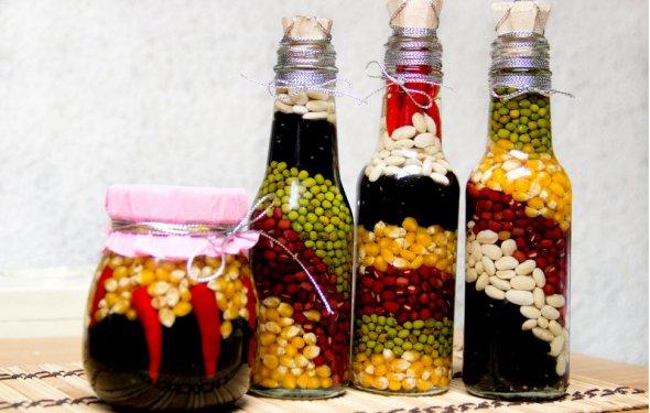 Декоративная бутылка с