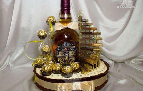 Как оформить бутылку в подарок