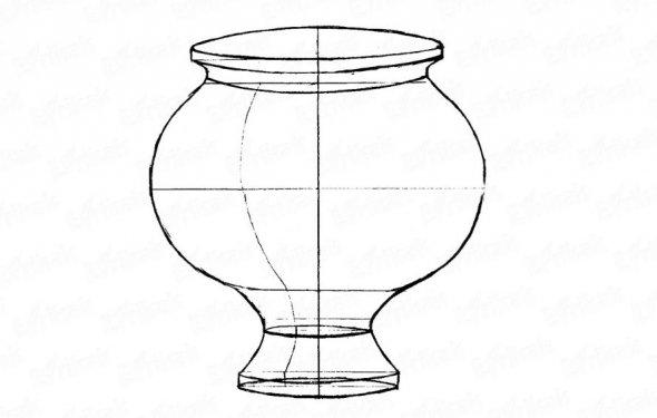 Как карандашом нарисовать вазу