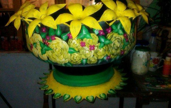 Как сделать вазу для цветов из