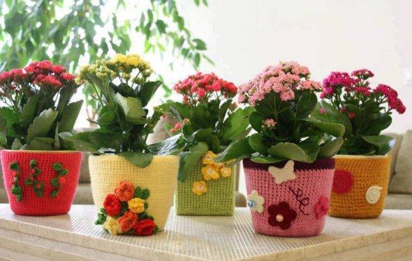 Как украсить горшки для цветов