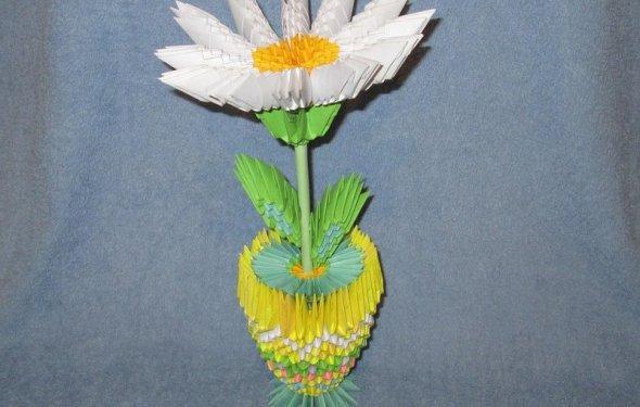Модульное оригами: ваза с