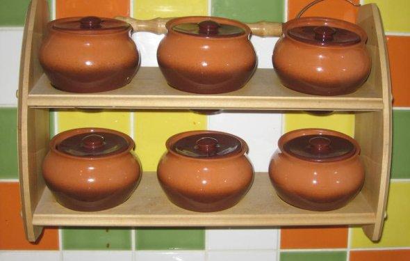 Пищевые керамические горшки