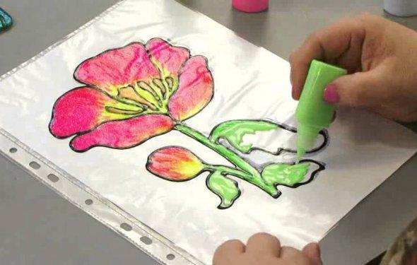 Рисуем витражными красками