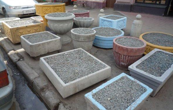 Салон Стиль: бетонные вазы